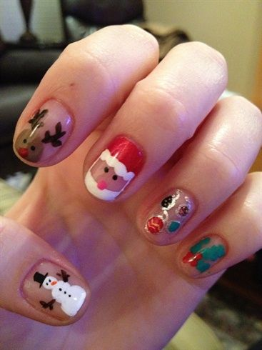 christmas - Nail Art Gallery by NAILS Magazine www.nailsmag.com