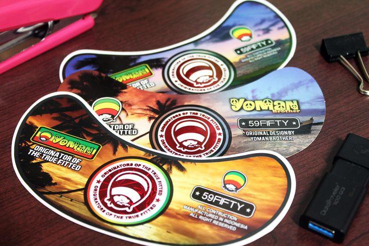 Sticker Topi Hip-Hop  Yoman Brother Offset Print  By. Qita Design