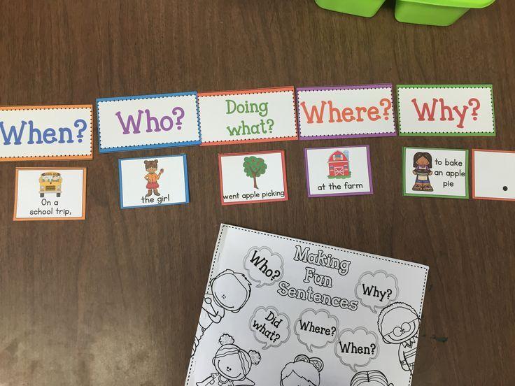A1-B1  få elevene til å lage setninger ut ifra spørsmålsordene. V2 og grammatikk