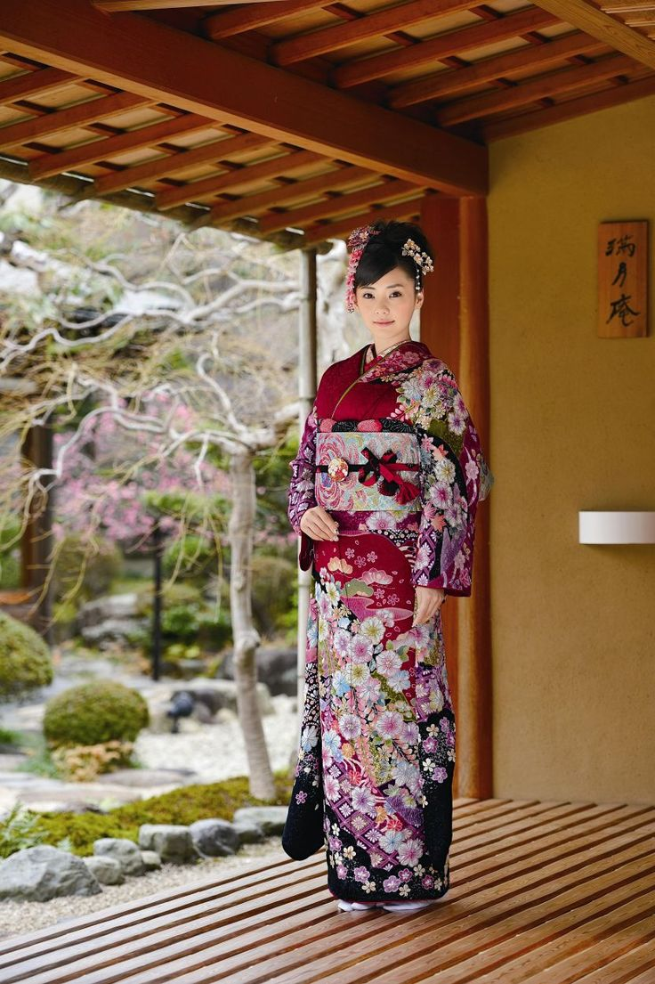 The kimono is a very decorative piece of clothing that is worn very often in Japan.