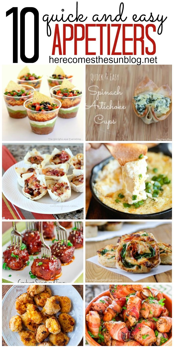 10 Quick and Easy Appetizers for New Year's Eve or any other celebration!