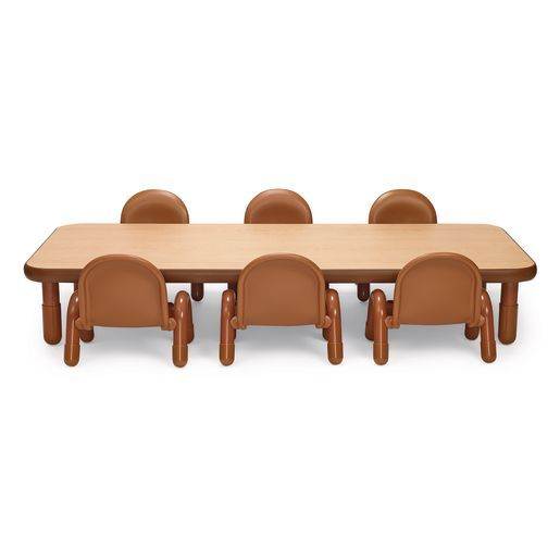 Angeles Baseline Rectangular Toddler Table Chair Set 72 L X