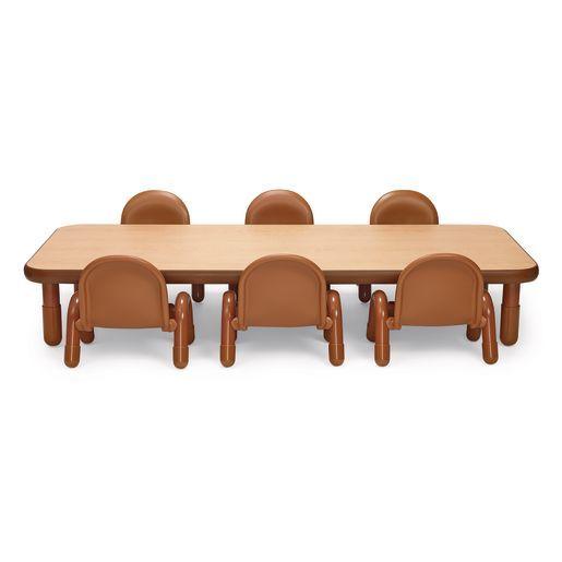 Angeles Baseline Rectangular Toddler Table Chair Set 72 L X