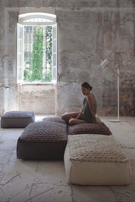 Adding big floor pillows to cinema room would be a great way to add comfy extra seating