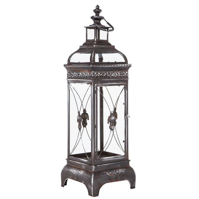 Antique Style Lantern Rustic Distressed Black Metal Led Candle Holder Table Lamp Needfulthings Antiquestyle Metal Lanterns Led Candle Holders Lanterns