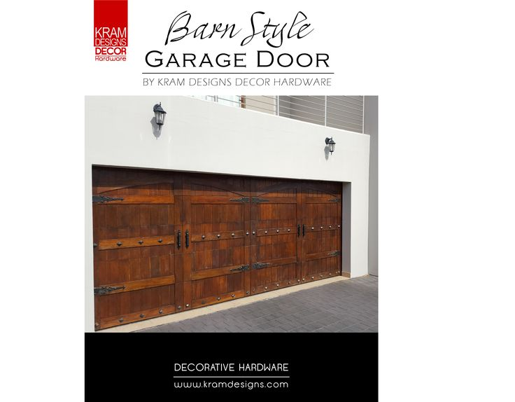 Kram Designs Decor Hardware was used on this custom style sectional Garage Door.