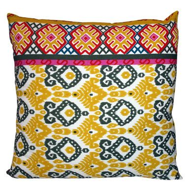 Yellow & Blue Cushion