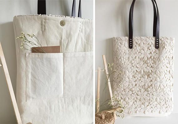 Handmade Shabby Chic Cotton Wedding Bag fea4d1c87de
