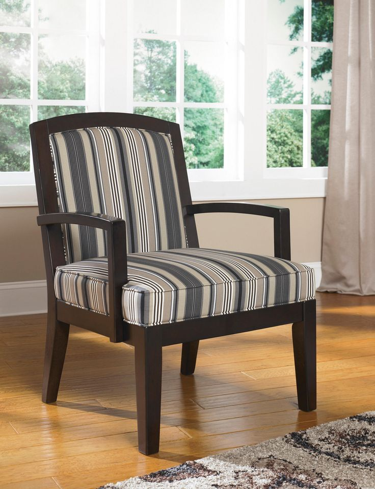 Strike up a conversation with the striking Yvette Accent Chair  Dressed in  a striped print53 best Accent Chairs images on Pinterest   Accent chairs  Living  . Side Chairs For Living Room. Home Design Ideas