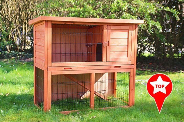 Conejera para roedores y conejos Belino con zona exterior y cajones _0 (79€)