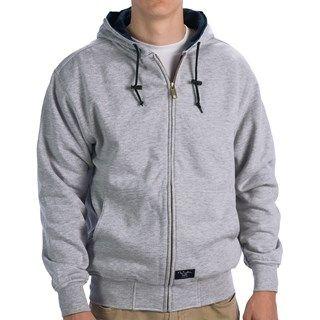 Walls Workwear Zip-Up Hoodie Sweatshirt - Thermal Lining (For Men) in Grey