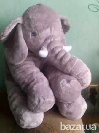 Большой плюшевый слон 60 см Днепр - изображение 1