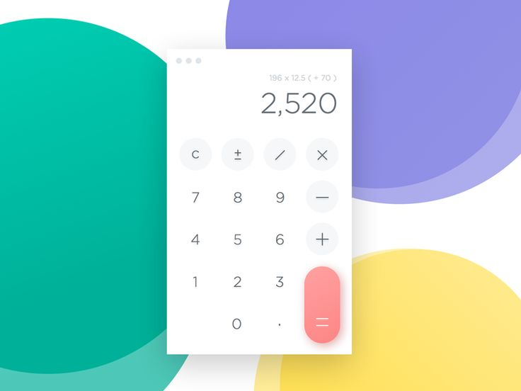 Day 004 - Calculator - useful for counting down the number of days left in this challenge... Hope you like! #dailyui