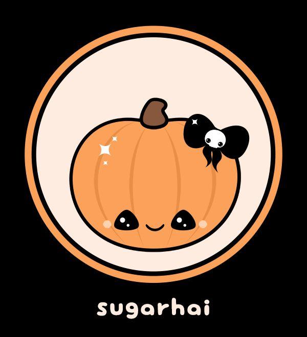 Cute animated Halloween gif with kawaii pumpkin. | Cute ...