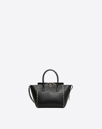 Are you looking for Valentino Garavani Rockstud Small Handbag? Find out all the details at Valentino Online Boutique and shop designer icons to wear.