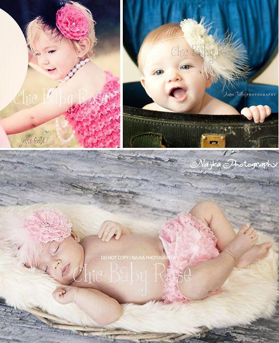 ファー&フラワーヘッドドレス!カラフルベビーロンパースとお揃い!全14色カラー!ハーフバースデー・お誕生日・プレゼントに!