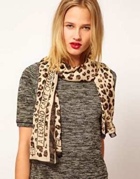 Moschino Cheap & Chic Leopard Scarf
