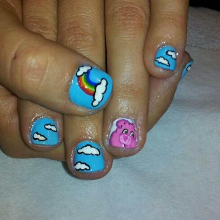 Bear Nail Art: 9 Best Care Bear Nails Images On Pinterest