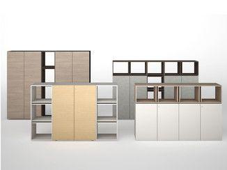 Mueble de oficina modular de madera CASE - ESTEL GROUP
