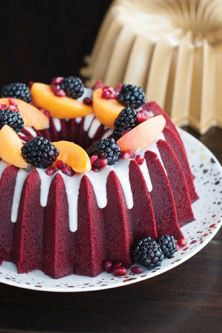 Red Velvet Bundt Cake With Cream Cheese Icing Recipe Red