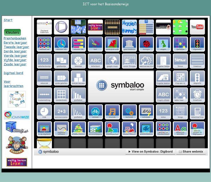Links met sites die gebruikt kunnen worden op het digibord