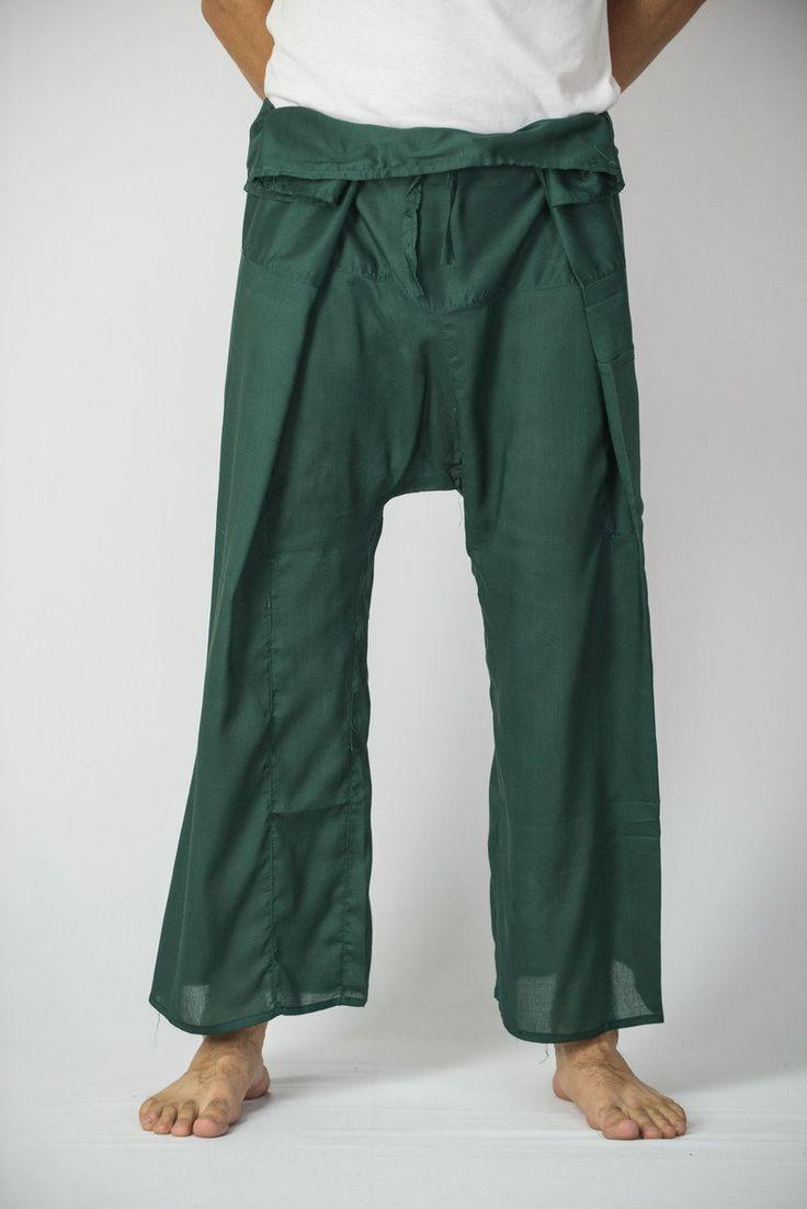 Unisex Thai Fisherman Pants in Green