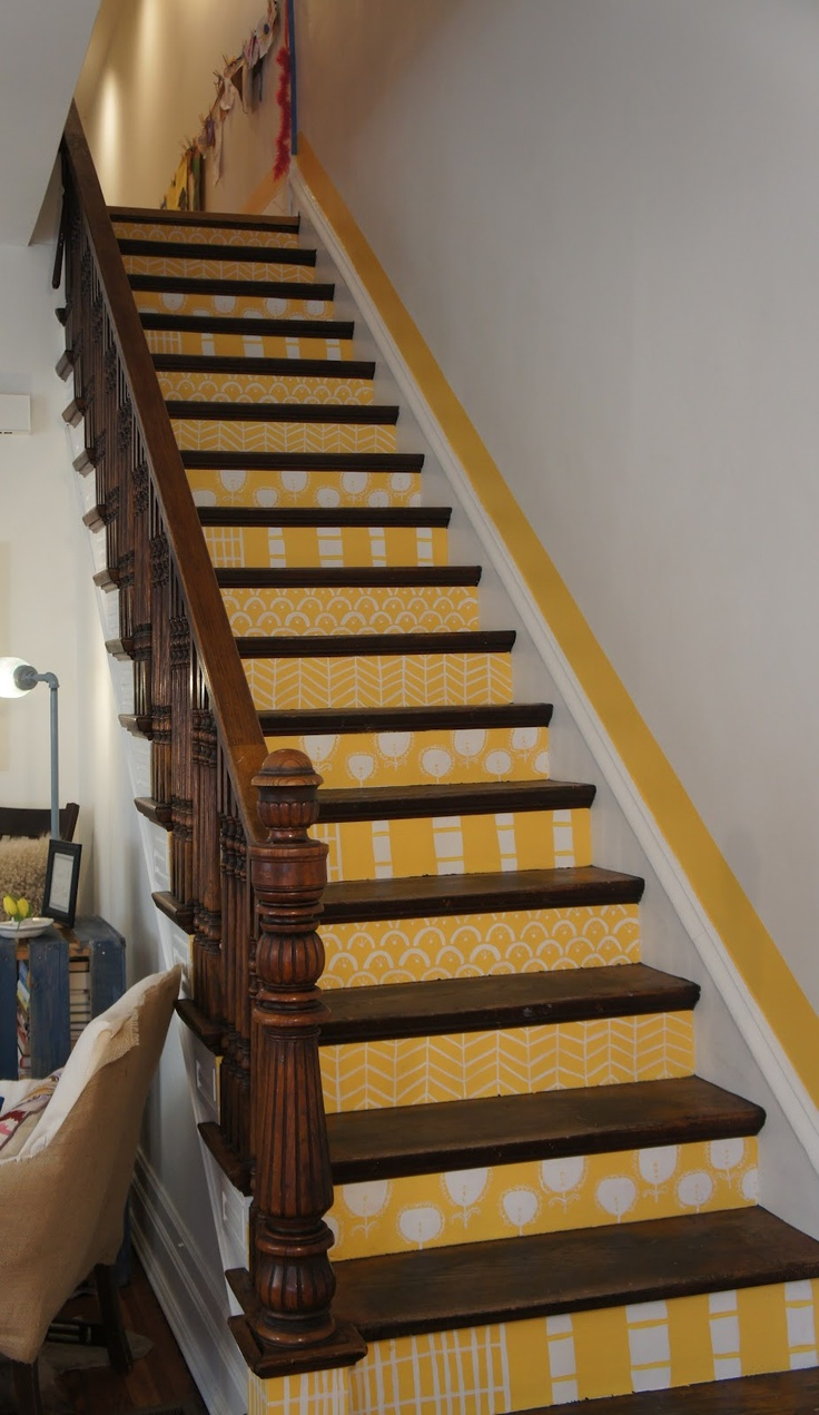 21 Best Stencilled Stairs Images On Pinterest Paint