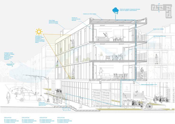 Galeria de 3º Lugar no concurso para edifícios de usos misto em Sol Nascente – trecho 2 - 11