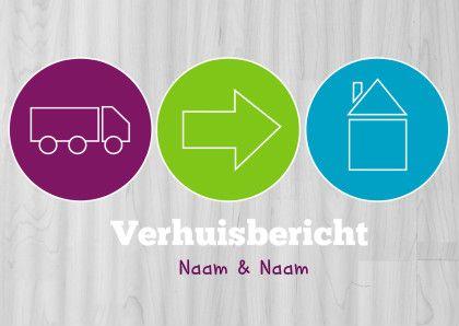 Verhuiskaart iconen - Verhuiskaarten - Kaartje2go