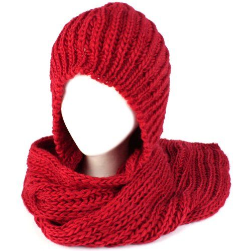 Free Hooded Scarf Patterns to Knit and Crochet - This is a page with many many links. No good photo of one of the free projects were on the page to use for this pin so I used this photo which is a knit pattern for sale. Also available on the site.