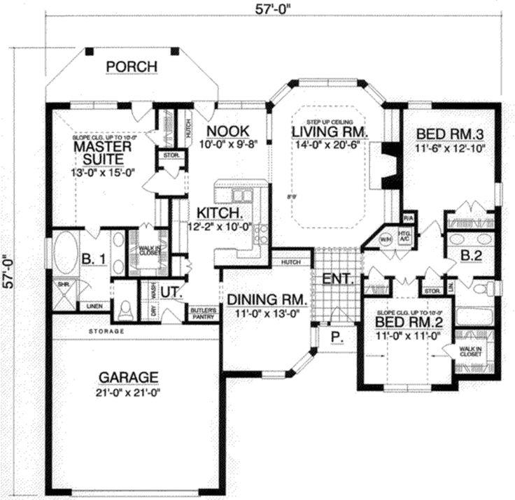 European style homes plans