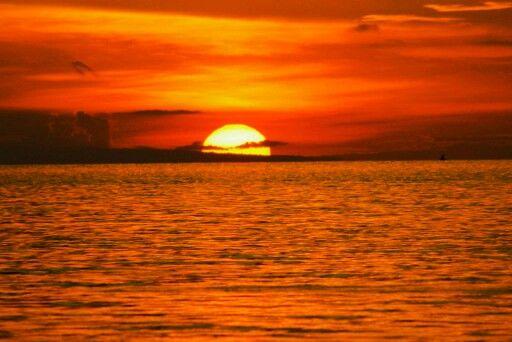 Sunset at lovina beach