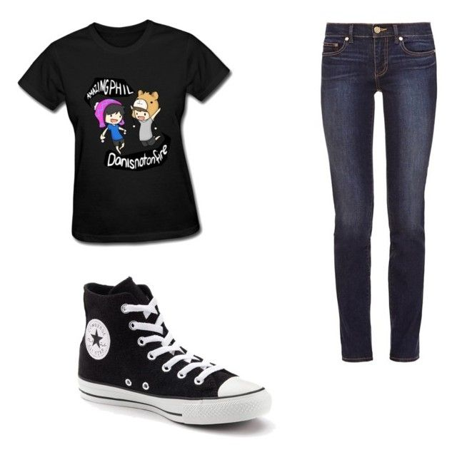 """""""Dan and Phil outfit"""" by alyssaneitz ❤ liked on Polyvore featuring Tory Burch and Converse"""