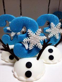 Vela de biscuit personalizada tema frozen