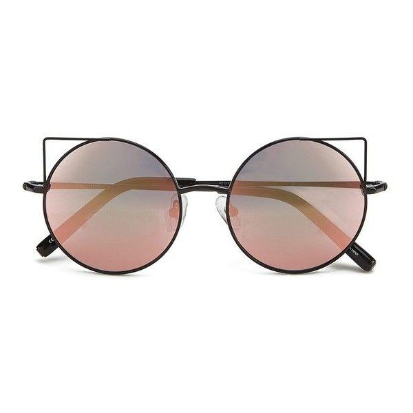 b9ac40f01 Linda Farrow Matthew Williamson Women's Peach Gold Lens Sunglasses -...  ($290) ❤ liked on Polyvore | c l o t h i n g in 2019 | Gold sunglasses, ...