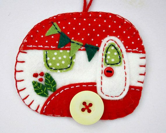 Hey, I found this really awesome Etsy listing at https://www.etsy.com/listing/245839175/felt-christmas-ornamentvintage