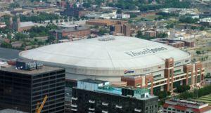 Edward Jones Dome - åpnings og avslutningsseremonien foregår i denne kjempehallen