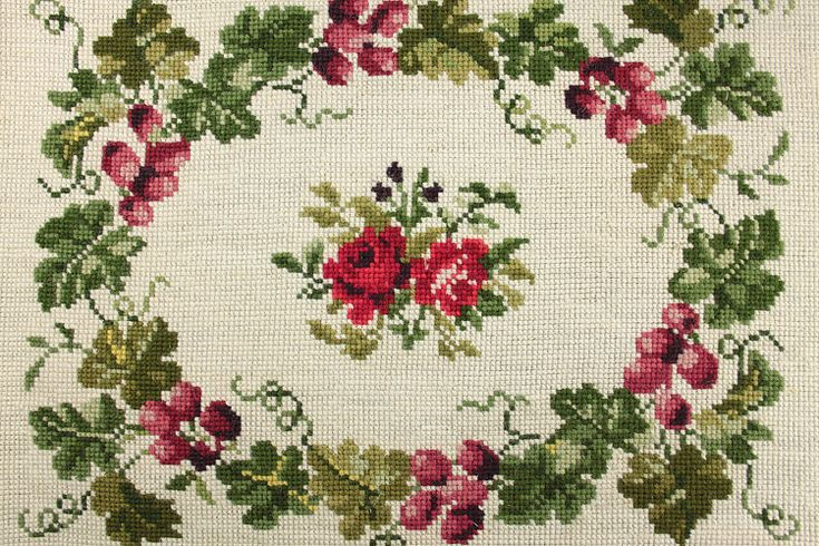 Vintage Home - 1920s Roses and Grapevine Tapestry.