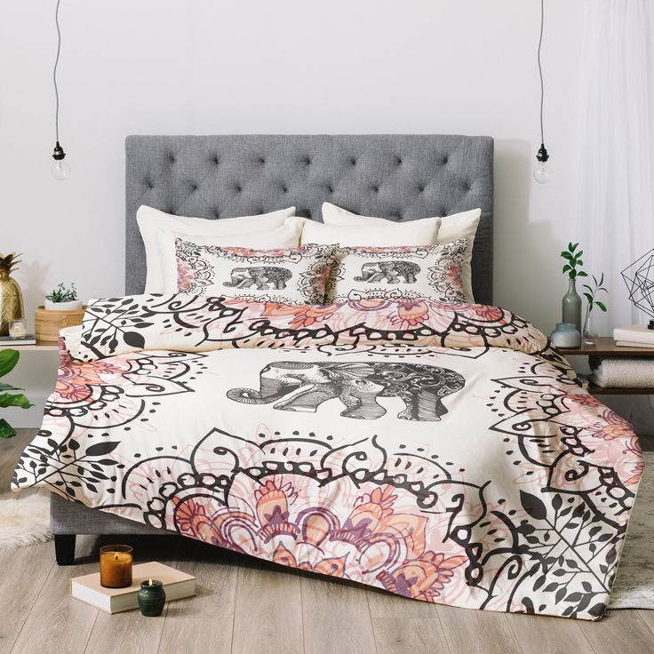 Pretty Little Elephant Comforter Rosebudstudio