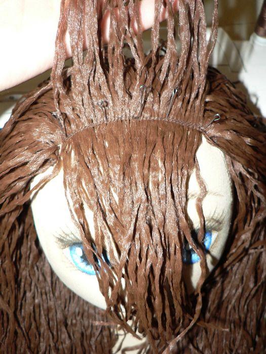 как сделать кукле волосы