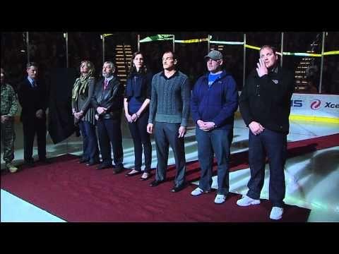 Derek Boogaard Tribute Ceremony - Minnesota Wild - 11/27/2011 [HD] - YouTube