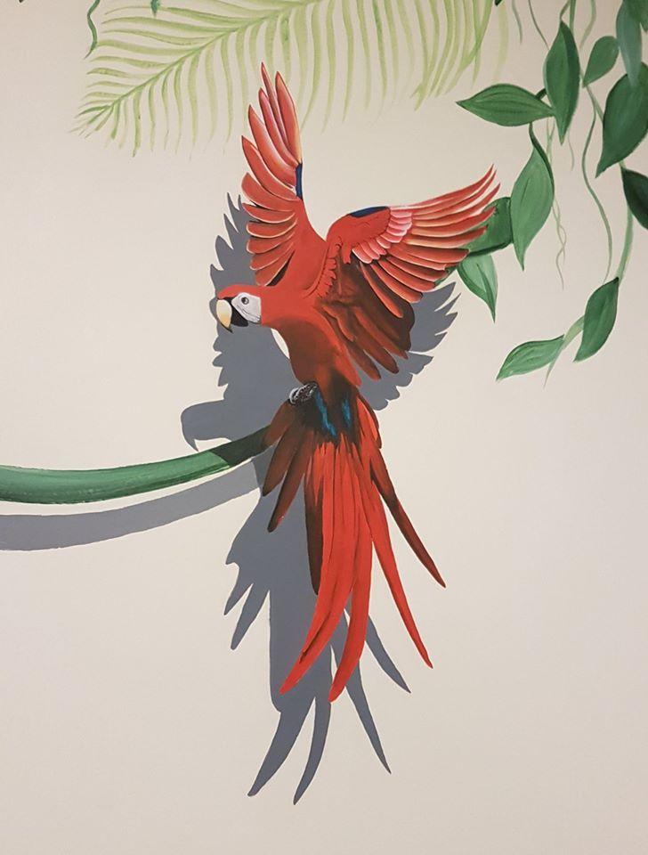 #mural#parrot#wall#paint