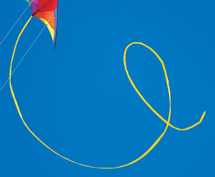 50-ft. Yellow Polyethelene Tubular Stunt Kite Tail. Add a tail for interest. Make any stunt kite easier to fly. This tubular polyethylene tail inflates with the wind to look great in the sky.