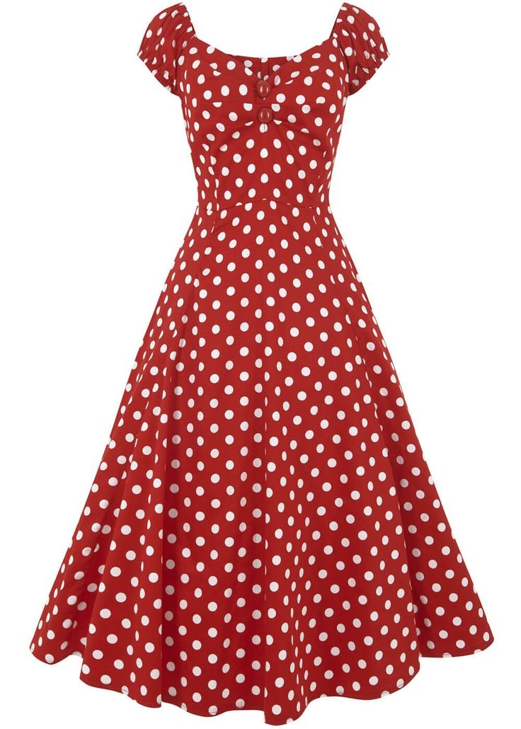 Collectif dolores-doll-dress-red-white-polka-swing-dress