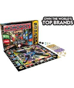 #Monopoly Empire Game. Great fun for all the family this is Monopoly with a twist. Instead of the usual London locations you can now buy and sell 22 of the worlds favourite brands. This fun #game makes #Argos top #Christmas toys for 2013 list.