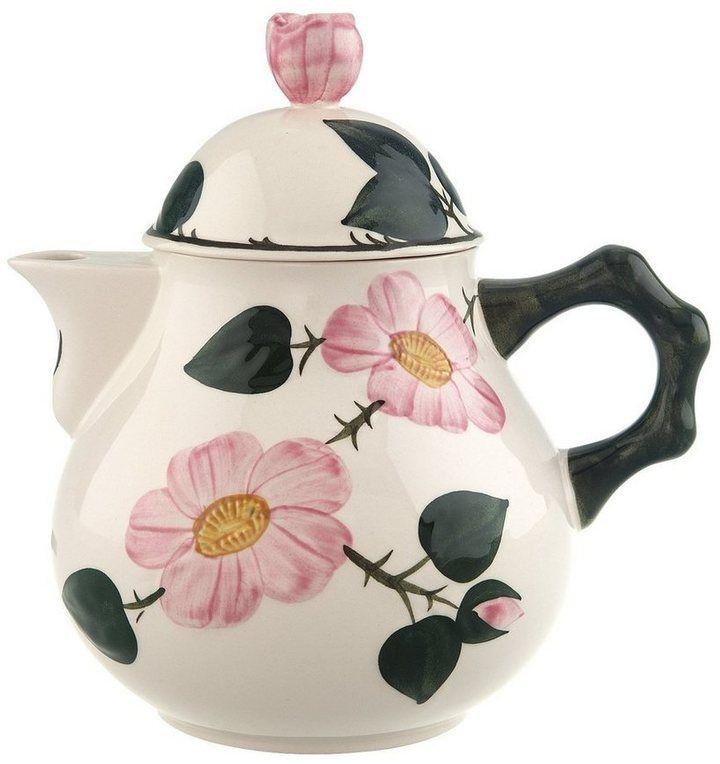 *Werbung* Villeroy & Boch Kaffee-/Teekanne »Wildrose« Mit der Klassiker-Kollektion Wildrose von Villeroy & Boch bringen Sie zu jedem Anlass Charme auf Ihren Tisch. Die Kollektion ist mit zarten floralen Mustern dekoriert, deren frisches Grün und warmes Rosa angenehm mit dem klaren Weiß des Porzellans kontrastieren. Ideal für den zeitlos schönen Country-Look!  #Küche #Tee #Teegeschirr #Porzellan #Geschirr