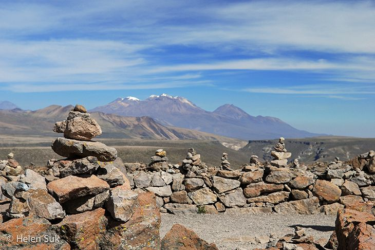 At 16,000 feet, Mirador de los Andes is the highest point in Colca Valley.