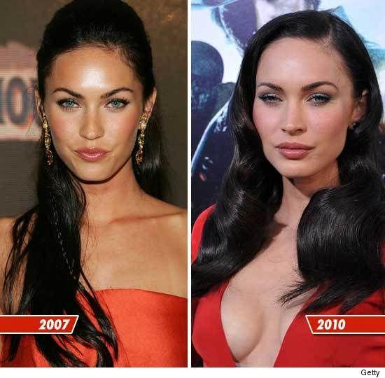 Megan Fox – Then and Now. Kinda creepy with all the Botox. | Skinny VS Curvy