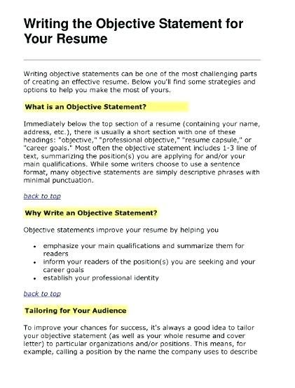 Best 25+ Objective examples for resume ideas on Pinterest Career - statement of qualifications example