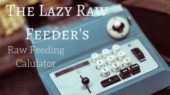 Darwin S Raw Dog Food Calculator